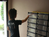 神奈川県内ポスティング風景です。 ※集合住宅の一戸建てもおまかせください。