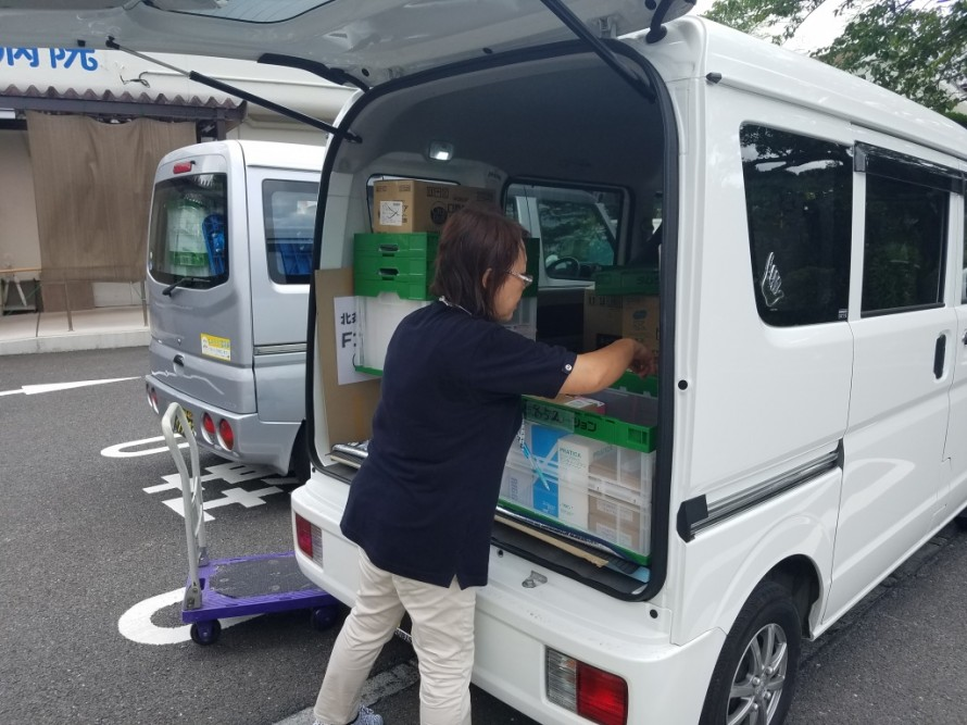 病院へ消耗品配送の同乗研修②