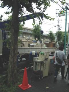 【横浜市内】医療機器の処分。 ユニック車にて運搬。