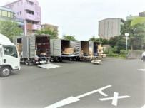 選挙における機材の運搬作業