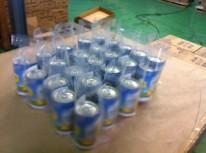 街頭配布にて使用数飲料水を封入。