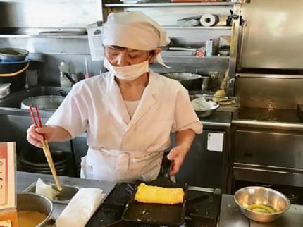 まいどおおきに陽光台食堂 玉子焼は注文を受けてから作ります