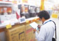 家電量販店にて製品の展示状況の調査・報告(販促便サービス)