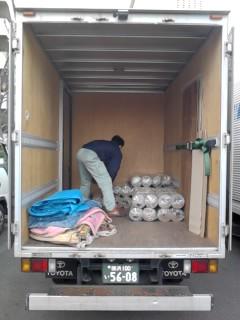 神奈川県内の選挙機材運搬を運搬中(マット)
