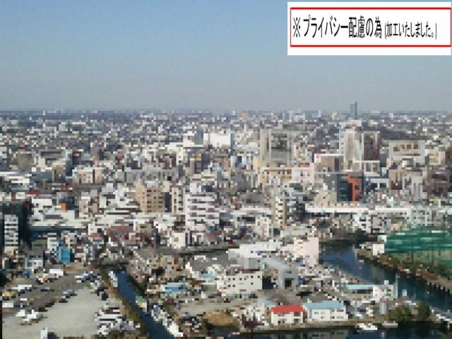 横浜の高層マンションへ配送中に出会った景色(加工済)1