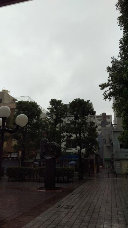 雨天時のとある、「通り」。