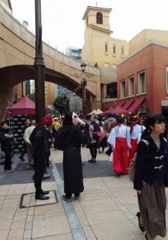川崎市ハロウィン2016でのチネチッタの風景