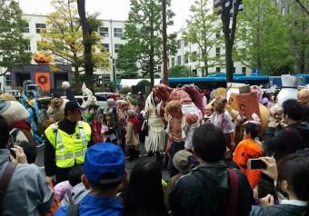 川崎ハロウィン2016のパレード風景