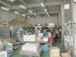 新横浜営業所、横浜市チラシの仕分けの様子