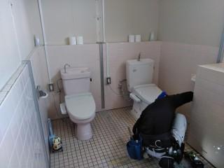 トイレ改装中