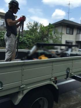 川崎市の町工場からユニック車積み込み