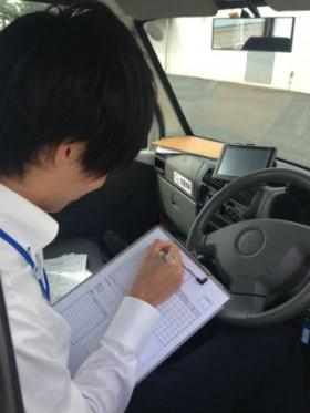 神奈川県内 検体輸送。 リストの記入中。