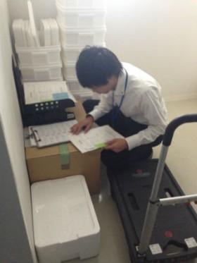 神奈川県内 検体輸送。 リストの確認中。