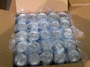 広告代理店様からの飲料水の封入・梱包 荷姿。