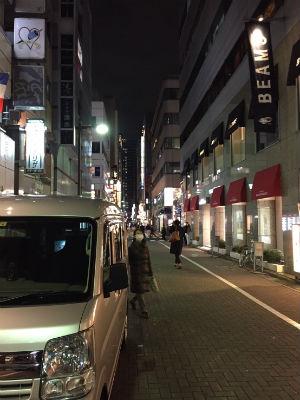 佐藤先生の運搬業務にて訪れた銀座の通り。