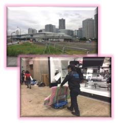 「ビックサイト」「幕張メッセ」「パシフィコ横浜」などのイベント大会場への展示品のお届け,撤去。