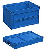 商品を運搬する際に使用する折り畳みコンテナ「オリコン」