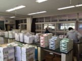 神奈川県内学校への教科書運搬業務にて。