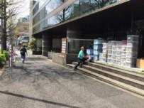 渋谷オフィス移転 衣装ケース運搬風景。