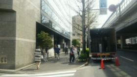 渋谷オフィス移転 運搬風景。